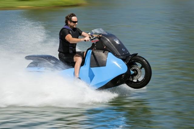 Moto anfíbia Biski é revelada nos EUA