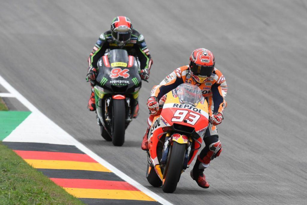 Márquez e Folger no MotoGP da Alemanha