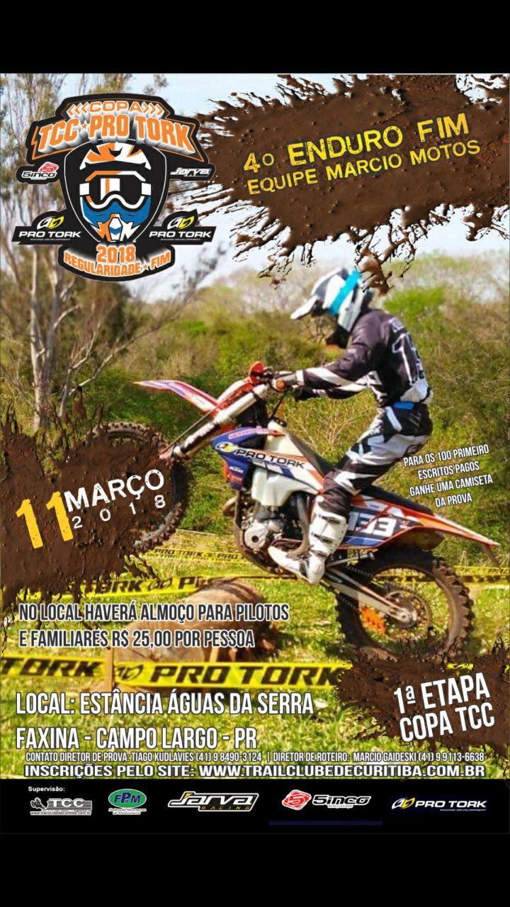 Copa TCC Pro Tork de Enduro Fim tem início neste domingo, em Campo Largo (PR)