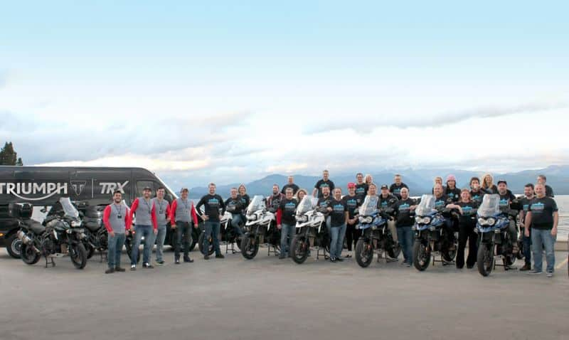 TRX organiza passeio na Patagônia para concessionários da Triumph dos EUA