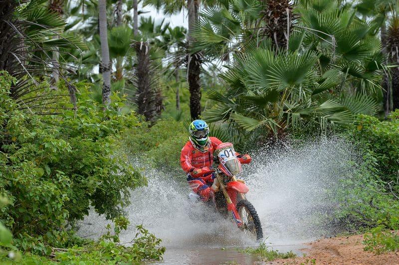 Jean Azevedo, da equipe Honda Racing de Rally Cross Country. Crédito: Fábio Davini/DFotos/Mundo Press