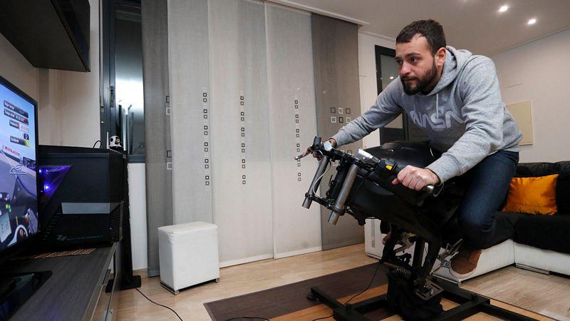 O LeanGP oferece aos jogadores domésticos um simulador de motocicleta com capacidade de pilotagem (Foto: LeanGP )