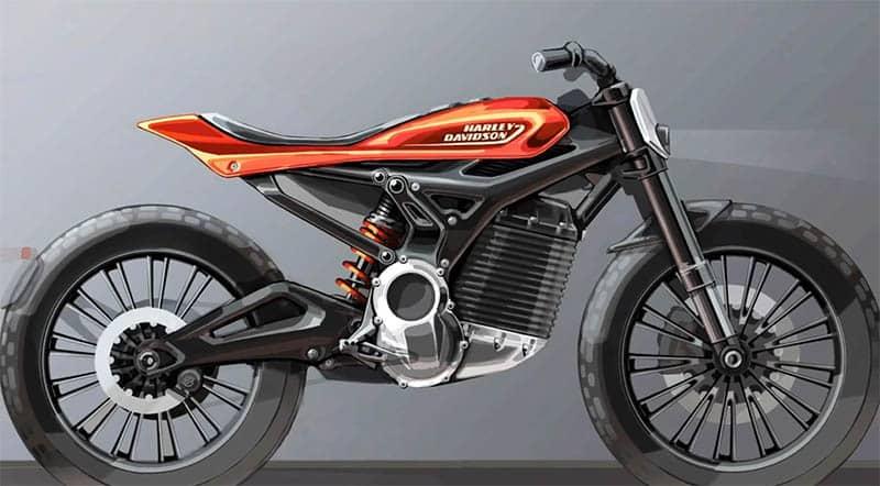 Esboço de outro modelo elétrico da Harley