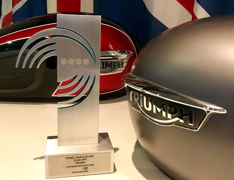 """Pela terceira vez, Triumph é eleita a """"Marca do Ano"""" pela Fenabrave"""