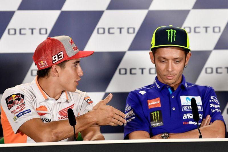 """Uma das cenas que marcaram 2018 na MotoGP: o """"não"""" aperto de mão de Rossi"""