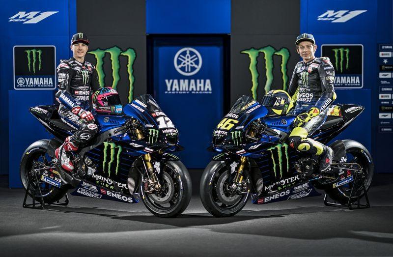 """MotoGP: Rossi e Vinales apresentam uma Yamaha """"mais escura"""" para 2019"""