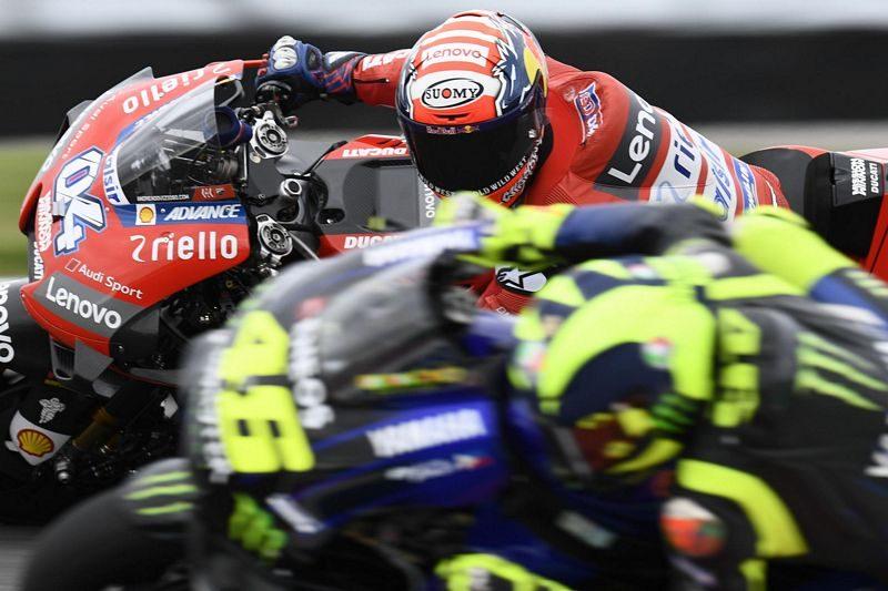 MotoGP Argentina - Rossi disputa com Andrea Dovizioso o segundo lugar