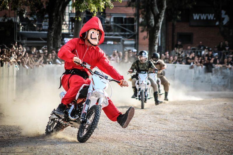 Corrida Maluca com as mini motos da MXF
