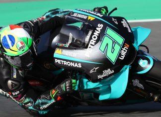 MotoGP: O ítalo-brasileiro Franco Morbidelli carrega em seu capacete as cores da bandeira brasileira - Foto: Petronas Yamaha