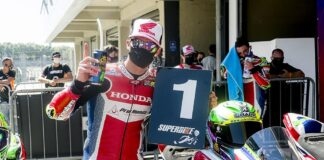 Eric Granado, da Honda Racing, vence etapa de abertura do SuperBike Brasil 2020, em Interlagos. Crédito: Ricardo Santos/Mundo Press