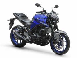 A MT-03 2020 passou por um redesenho. - Cor: azul metálico (Racing Blue)